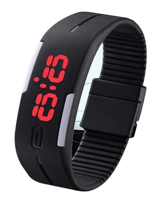 LED Sports Watch - Black - for Men