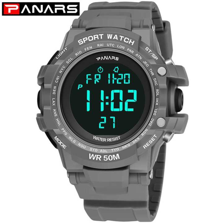 PANARS Outdoor Sport Muti-Functional Noctilucent Water Proof LED Male Watch