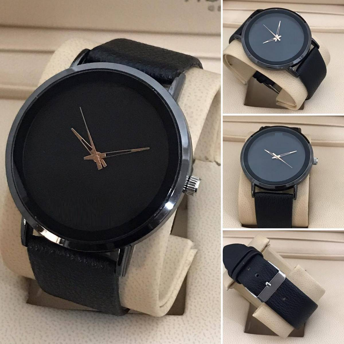 black leather Luxury Watch For Unisex Rs. 19