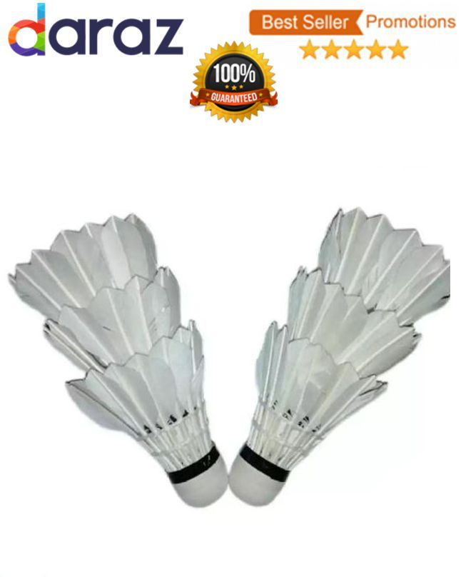 Pack of 6 - Feather Shuttle - White