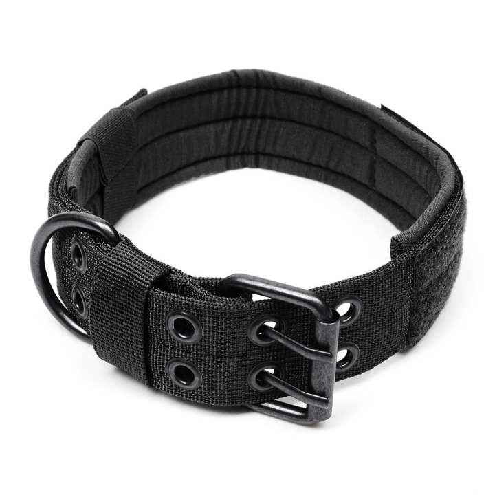 1000D Nylon Military Tactical Dog Collar with Metal Buckle Dog Training Collar XL Black