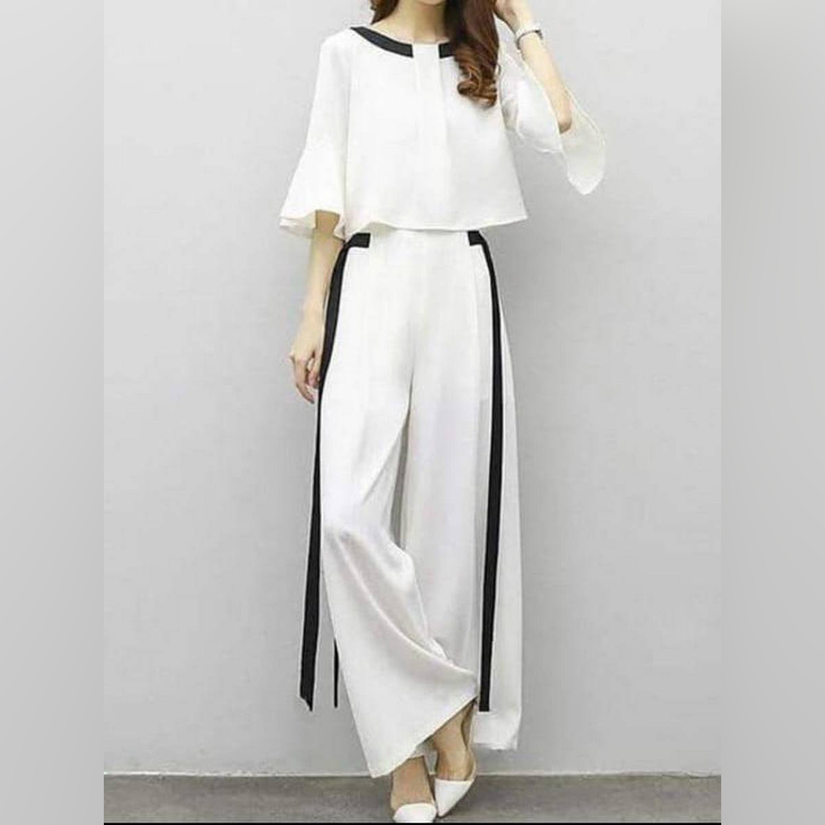 New Summer Fashionable Stylish White Jump Suit For Women