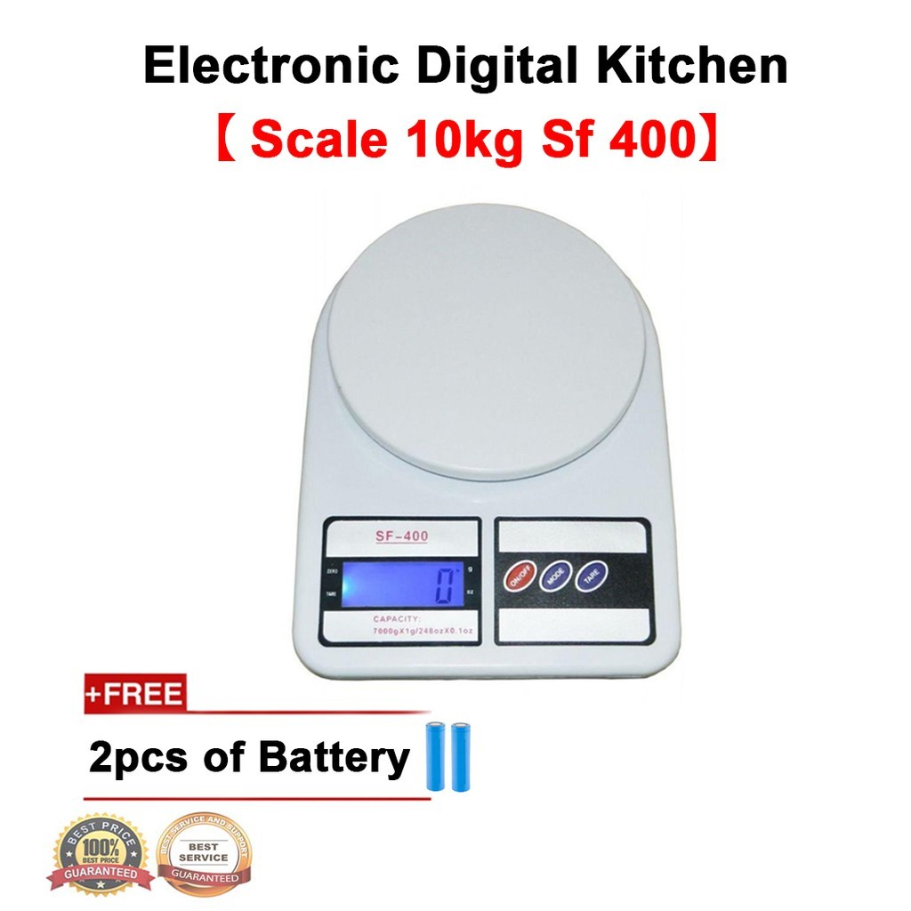 Buyer's House 10kg Electronic Digital Kitchen Scale (SF-400) for Vegetable, Fruit, Jewelry, & Postal Parcel Measurement, Digital Weighing Mini Scale.