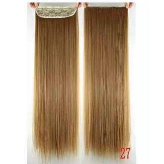 Straight Synthetic Hairs 5 Clips - 27 Inch - Golden