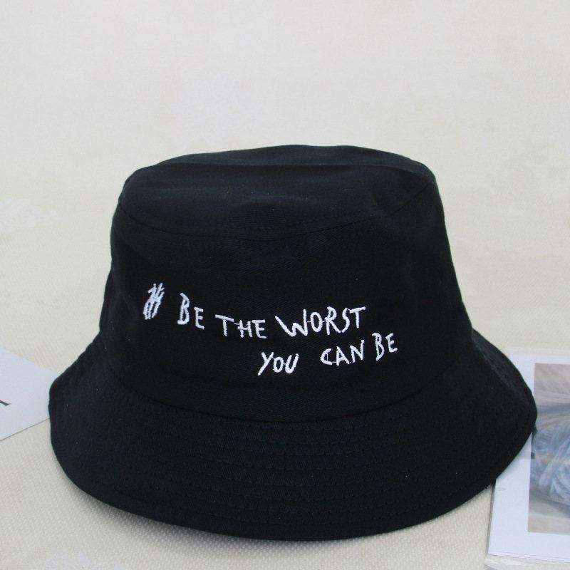 b802d1f3 Summer Hats For Women Men Round hat Korean Embroidery Alphabet Men'S And  Women'S Hats Outdoor Dome