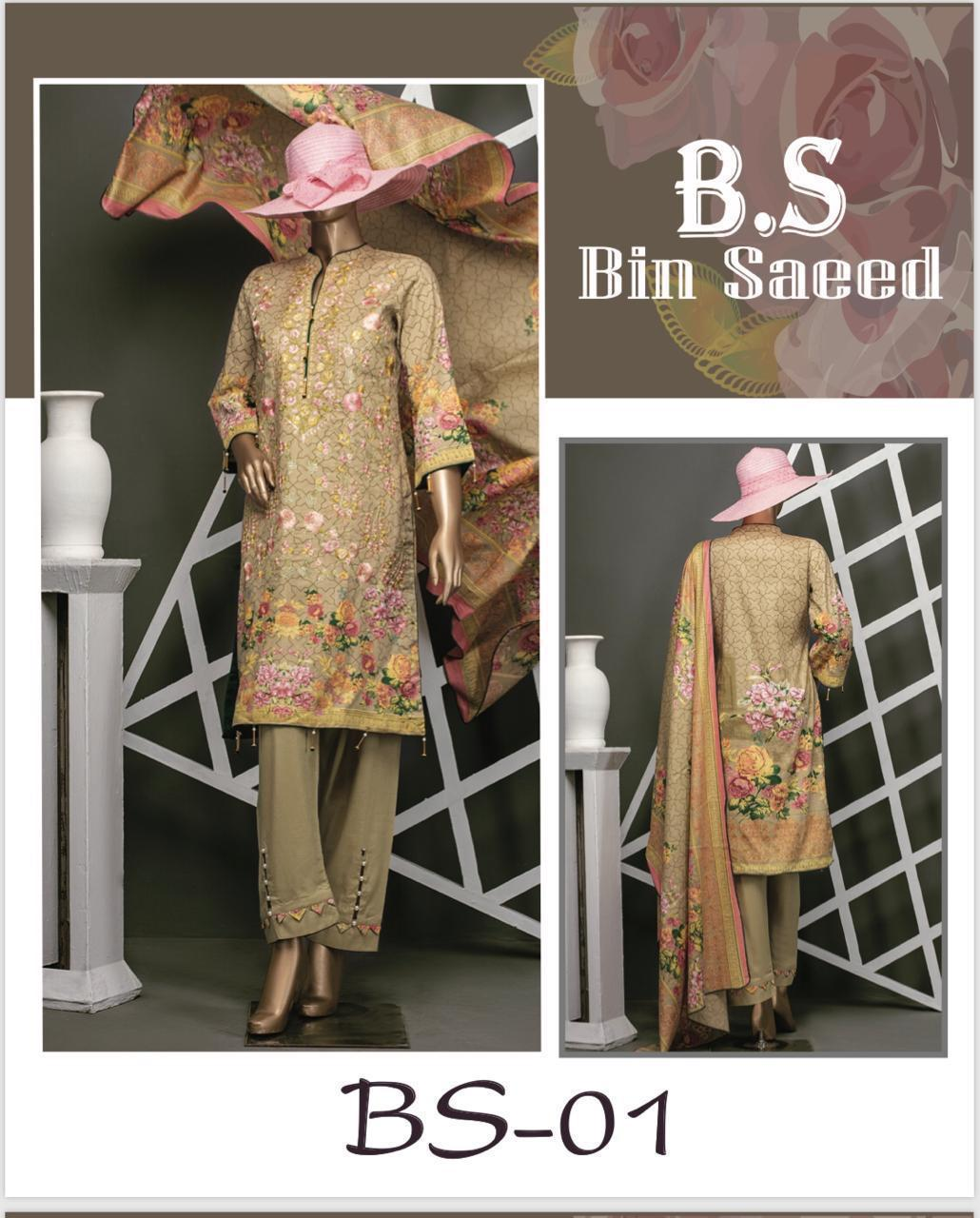 998acf9e4f Bin Saeed Peach Color Embroidered Suit: Buy Online at Best Prices in ...