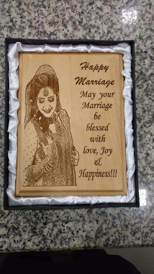 Engrave Your Picture frame & print Your Name Poem Etc Save Your Great Memories In Frame (Wooden)