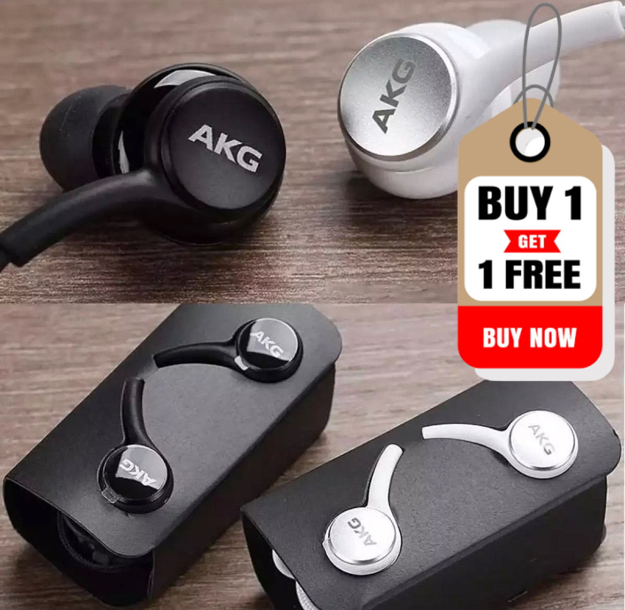 BUY 1 GET 1 FREE Superb Bass AKG_S10 Earphones Handsfree - 3.5mm Jack - Supported with all devices