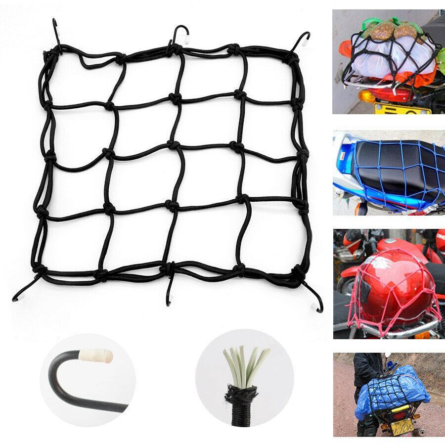 Cargo Net Motorcycle Helmet Mesh Luggage Bag Cargo Cover Seat Net 6 Hooks