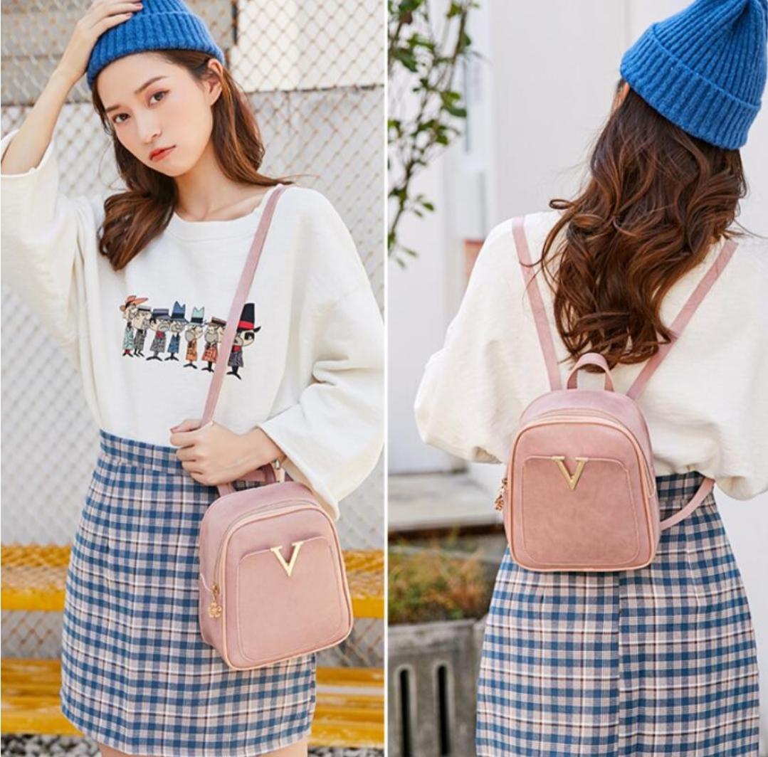 Smile 3 Styles Used Girls Mini Bag,(backpack+side Shoulder Bag,hand Carry)