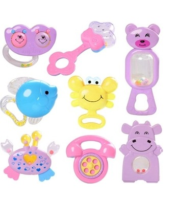 Baby Rattles Toys (3 in 1) Random Design 3 pcs