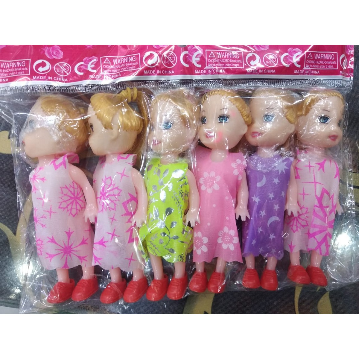 6 Pieces Dolls Toys Kids Gift Set For Girls (Multicolours)