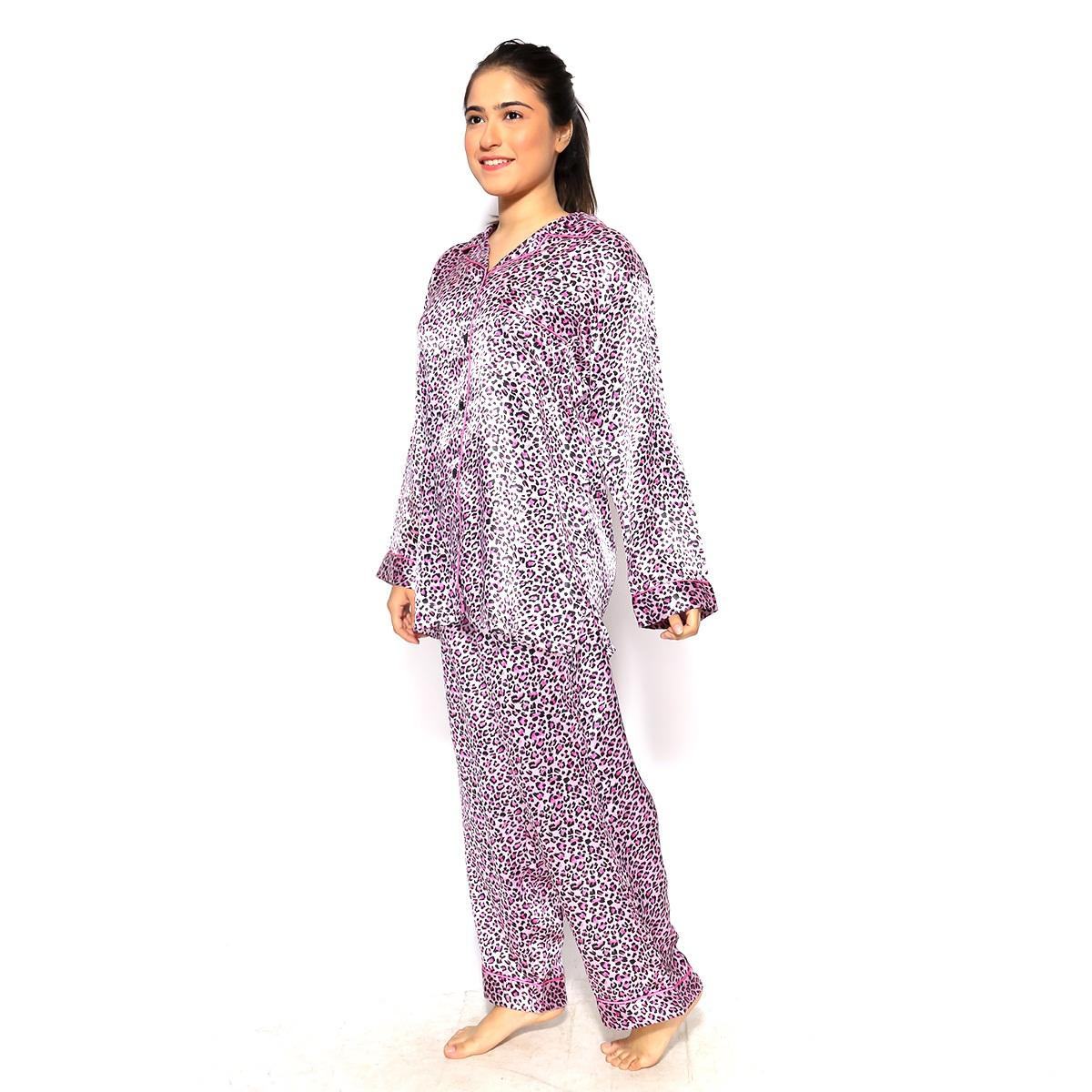 Valerie silky comfy satin Everynight styles to holiday night prints Pajama set comfortable tailored Sleepwear