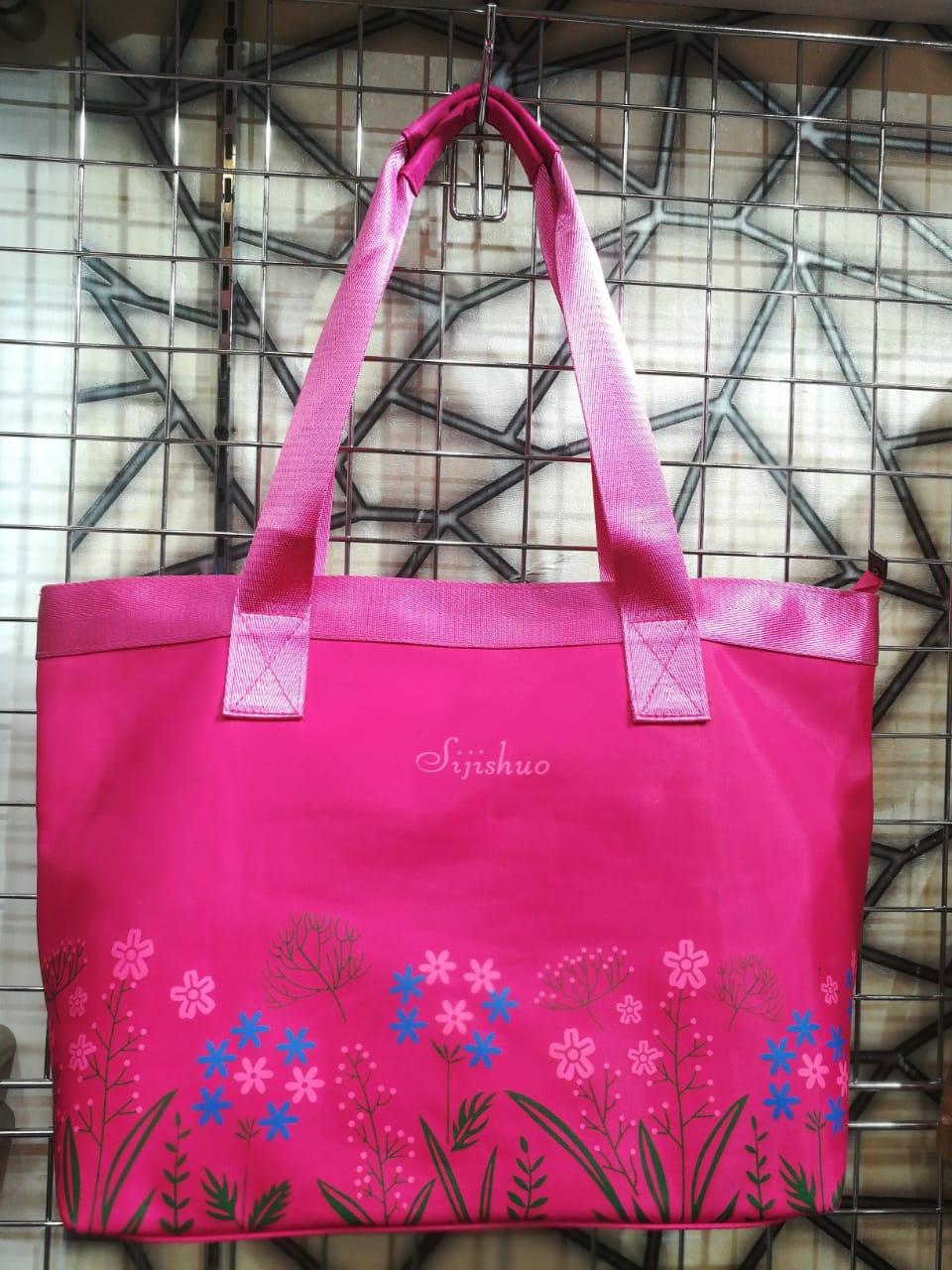Ladies Waterproof Silk Hand & Shoulder Tote Bags / Various Colors Available