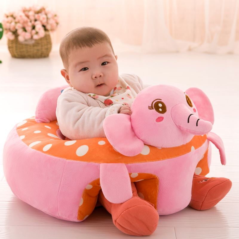 Mickey Mouse Black Red Stuffed Plush Sofa Baby Seats Children Sofa Support Seat Learning Training Cushion Baby Carrier Seater Toddler Nest Puff Cartoon Minnie Mouse Chair Soft Babies Toys with 2 Holes for Legs For 3 - 12 Months(Black Red)