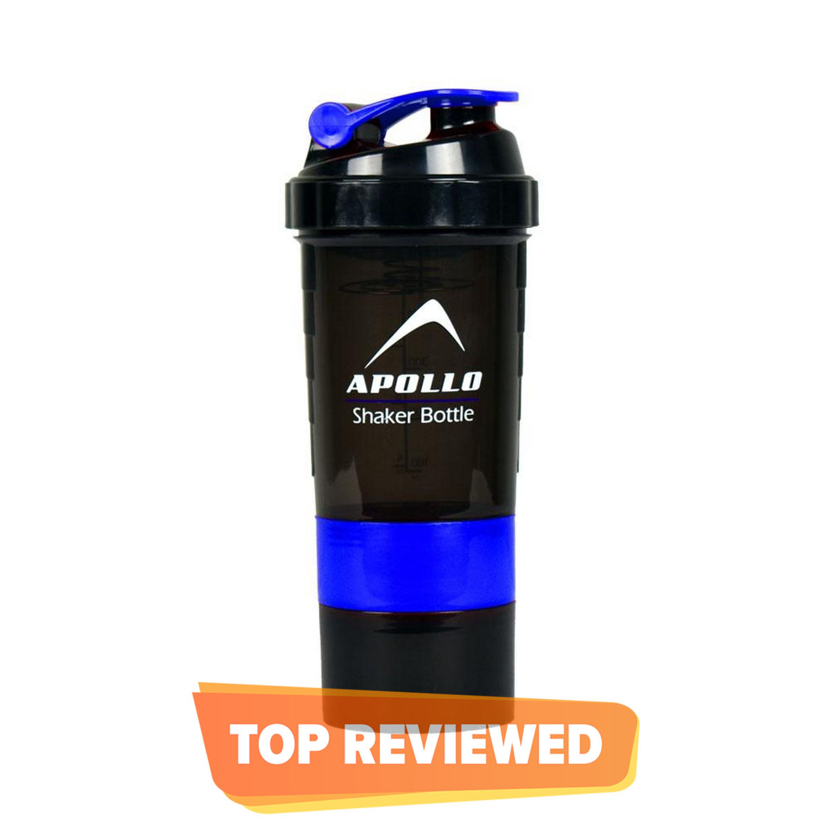 SHAKER BOTTLE PROTEIN SHAKER BOTTLE SPRING BOTTLE WITH TWO SPARE JAR APOLLO WB-01
