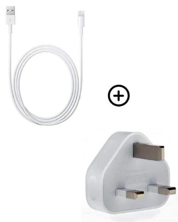 Pack of 2 Genuine Charging Adapter & Cable For iPhone