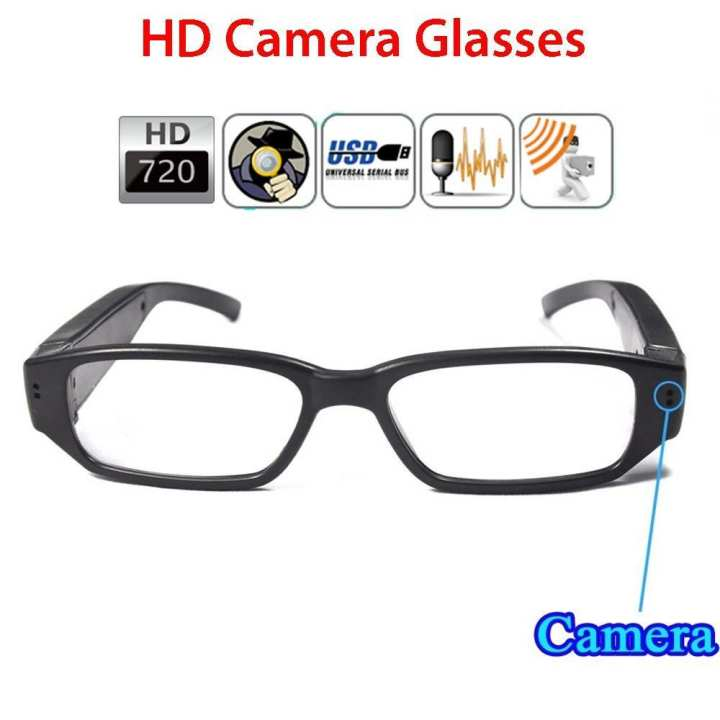 SPY GLASSES CAMERA - BLACK