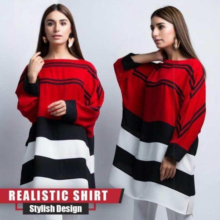BINN Realistic Red stylish shirt for Women