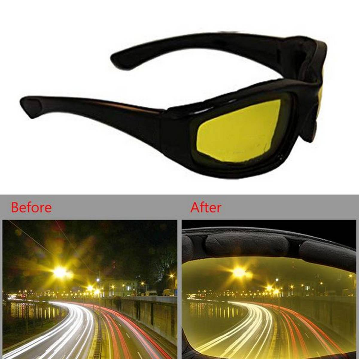 HD Night Vision & Day Glasses Aviator For Men Polarized With Uv Protection Driving Glasses