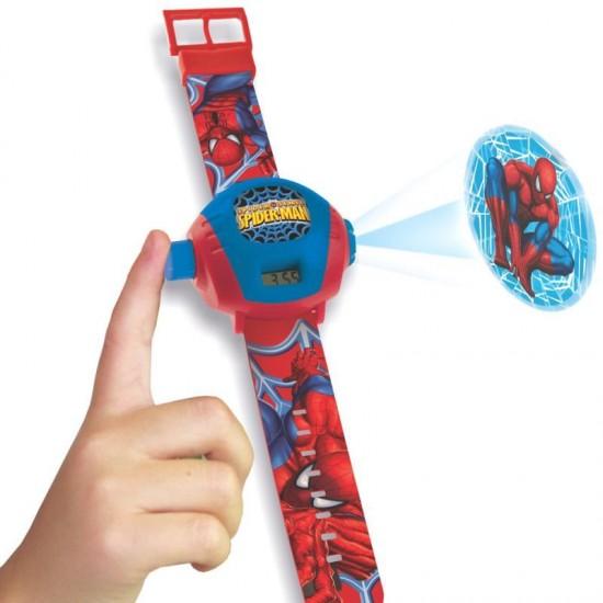 Spiderman Projector Digital Watch Blue Color Kids 1 Pc