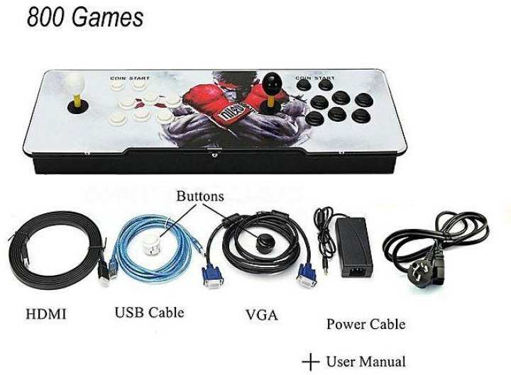 800 Games Home Multiplayer Arcade Double Joystick Game Console For TV Monitor