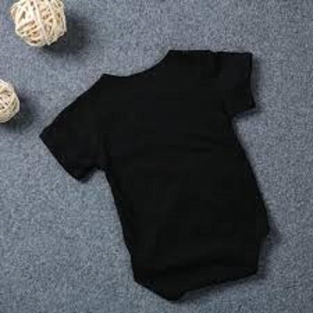 black romper baba and baby plain  basic
