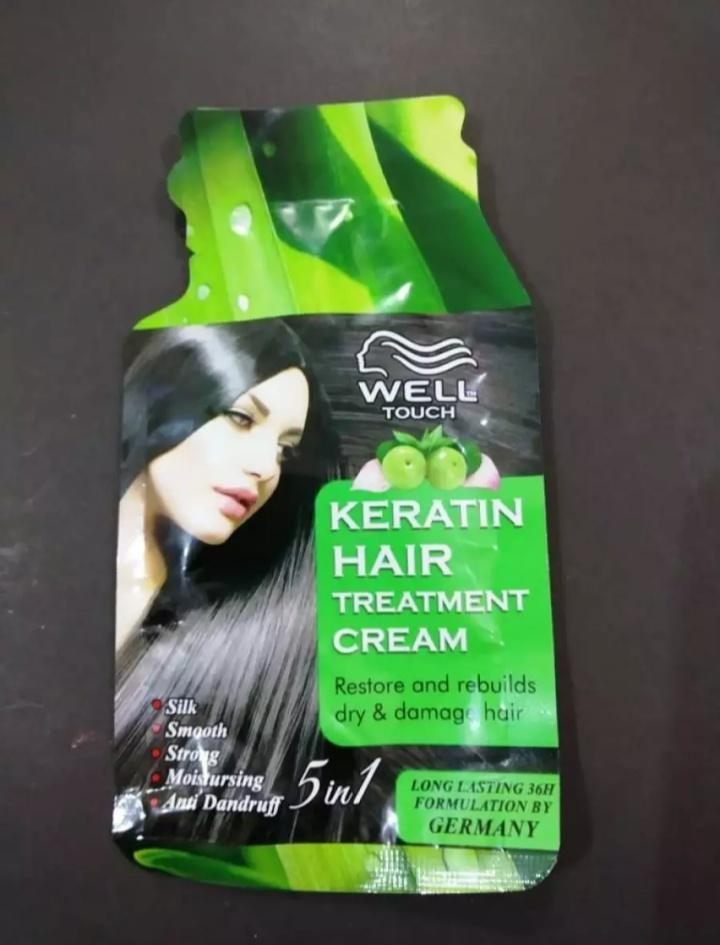 Well Touch Keratin Hair Treatment Cream Restore And Rebuild Dry And Damage Hair Anti Dandruff Makeup Buy Online At Best Prices In Pakistan Daraz Pk