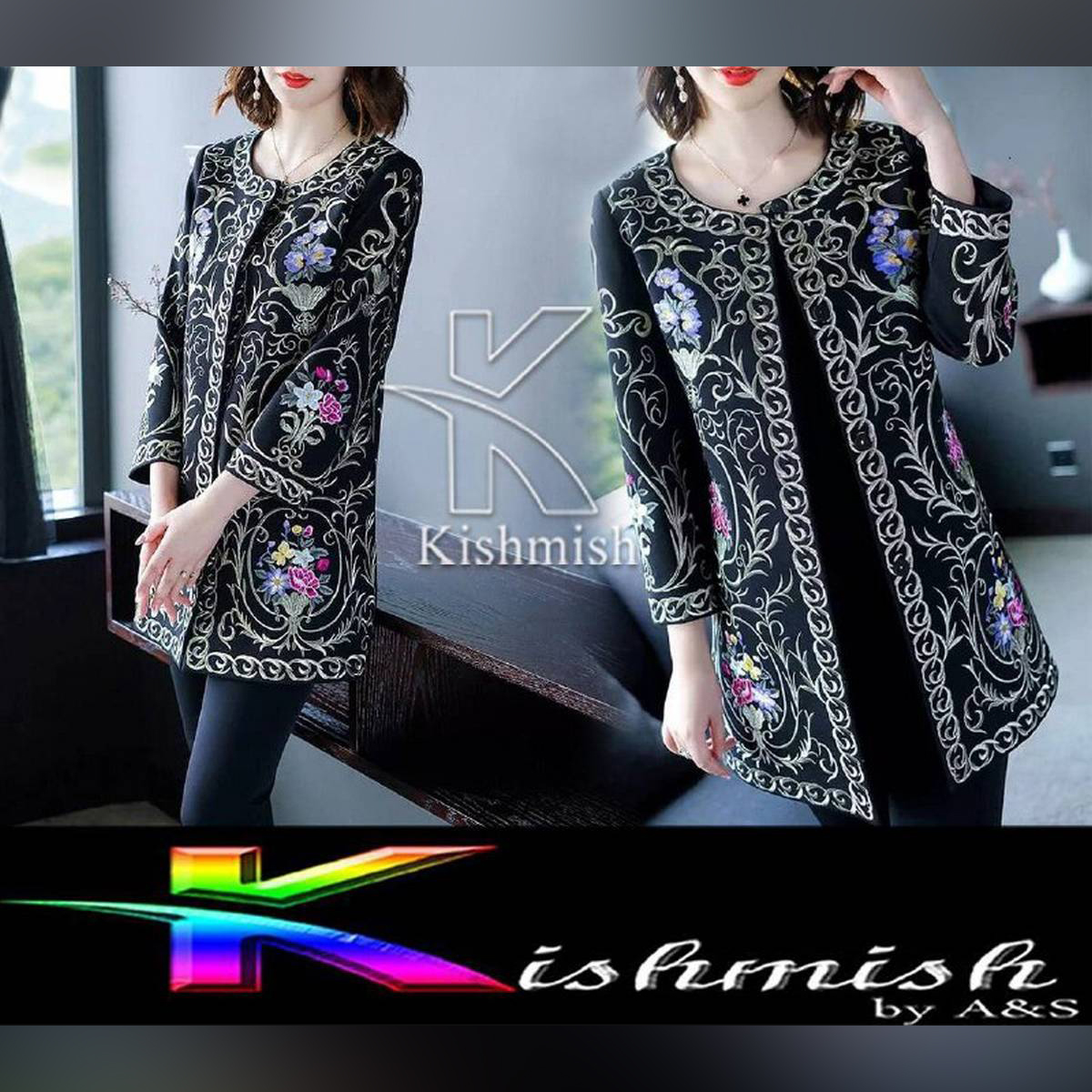 Kishmish Royal Embroidered Blazer (Coaty) for her by Express Deals