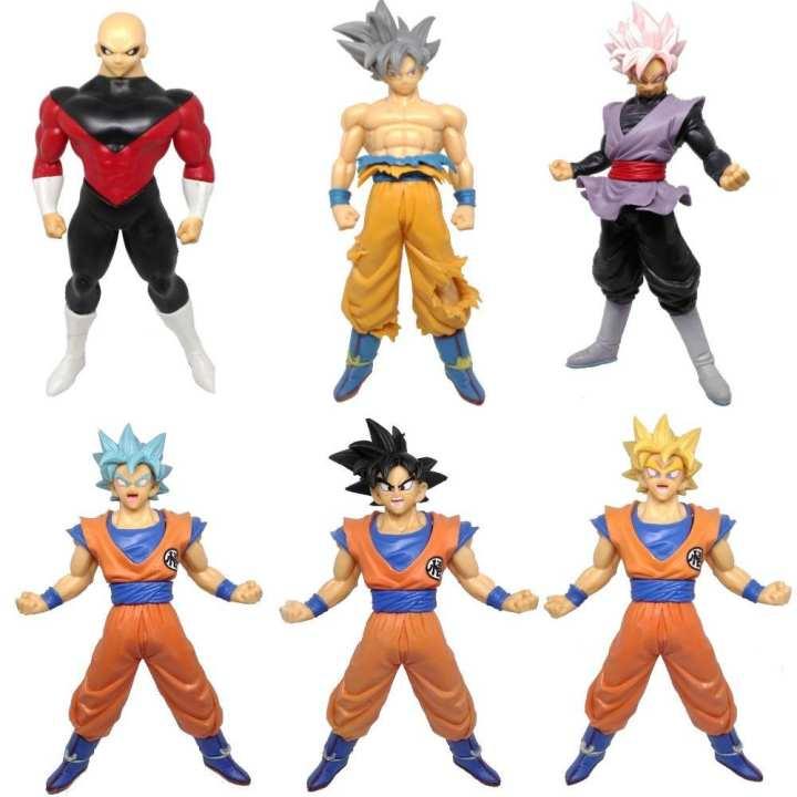 Dragon Ball Super - Jiren - Goku Ultra Instinct - Black Goku - Action Figures - 19cm