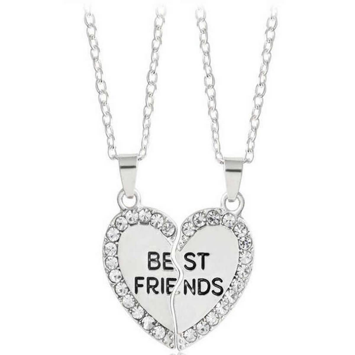 2pcs/ Set Fashion Necklace BFF Best Friends Forever Love Rings Eternity Pendant Necklaces Jewelry Gifts