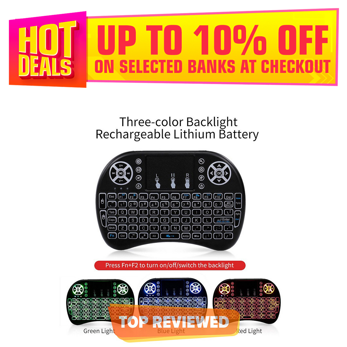 Mini Wireless Keyboard Mouse Backlight Remote Control Air Mouse Touchpad Keyboard For Smart TV Box PC