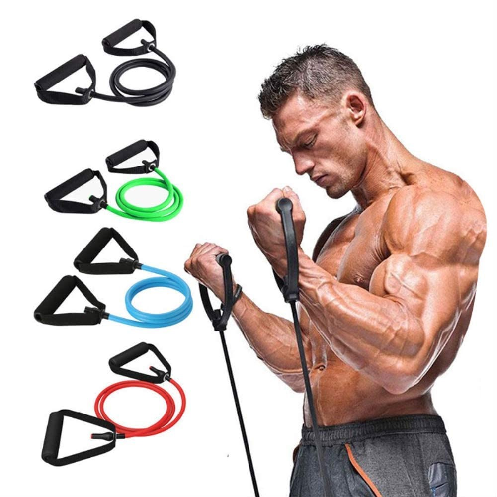 Multifunction Elastic Toning Tube Resistance Band for Fitness