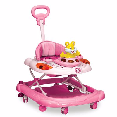 Baby Handle walker Baby Walker with Music and Light rabber wheel