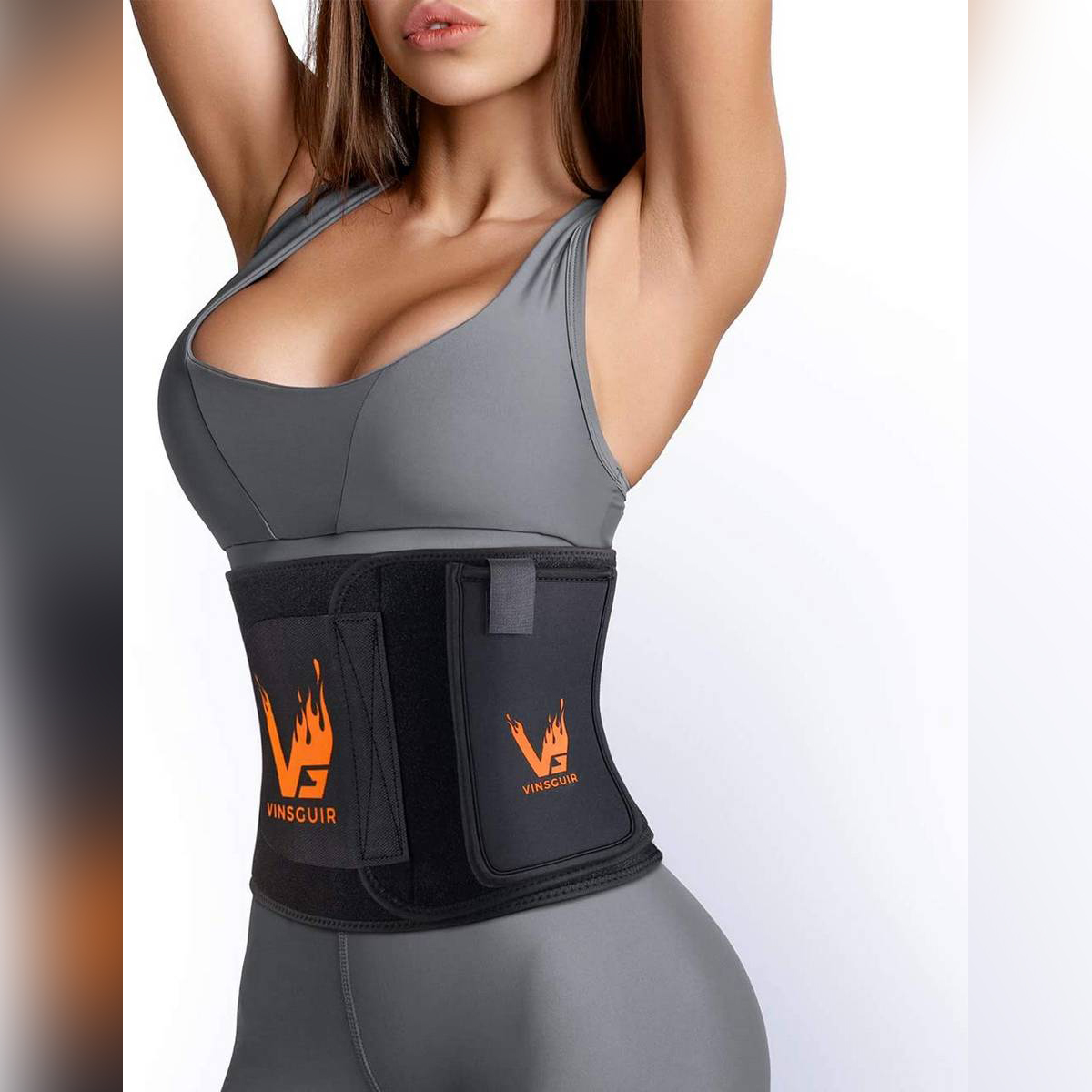Waist Trainer for Weight Loss, Waist Trimmer Slimming Body Shaper Belt, Low Back and Lumbar Support, Belly Fat Burner, Compression Band for Weight Loss Workout Fitness for Men and Women