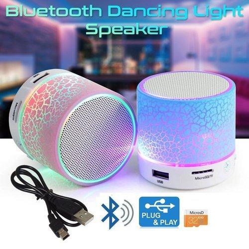 Imported A9 Mini LED Light Speaker Portable for All Bluetooth devices+ SD Card &USB Supported