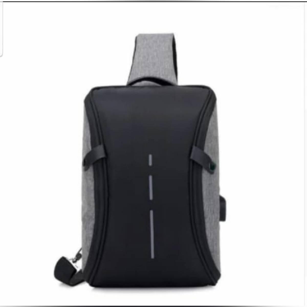Man's Messenger Bag Men Shoulder PU Leather Chest Bags Crossbody Business Messenger Bags Male Charging Handbag with USB Charge