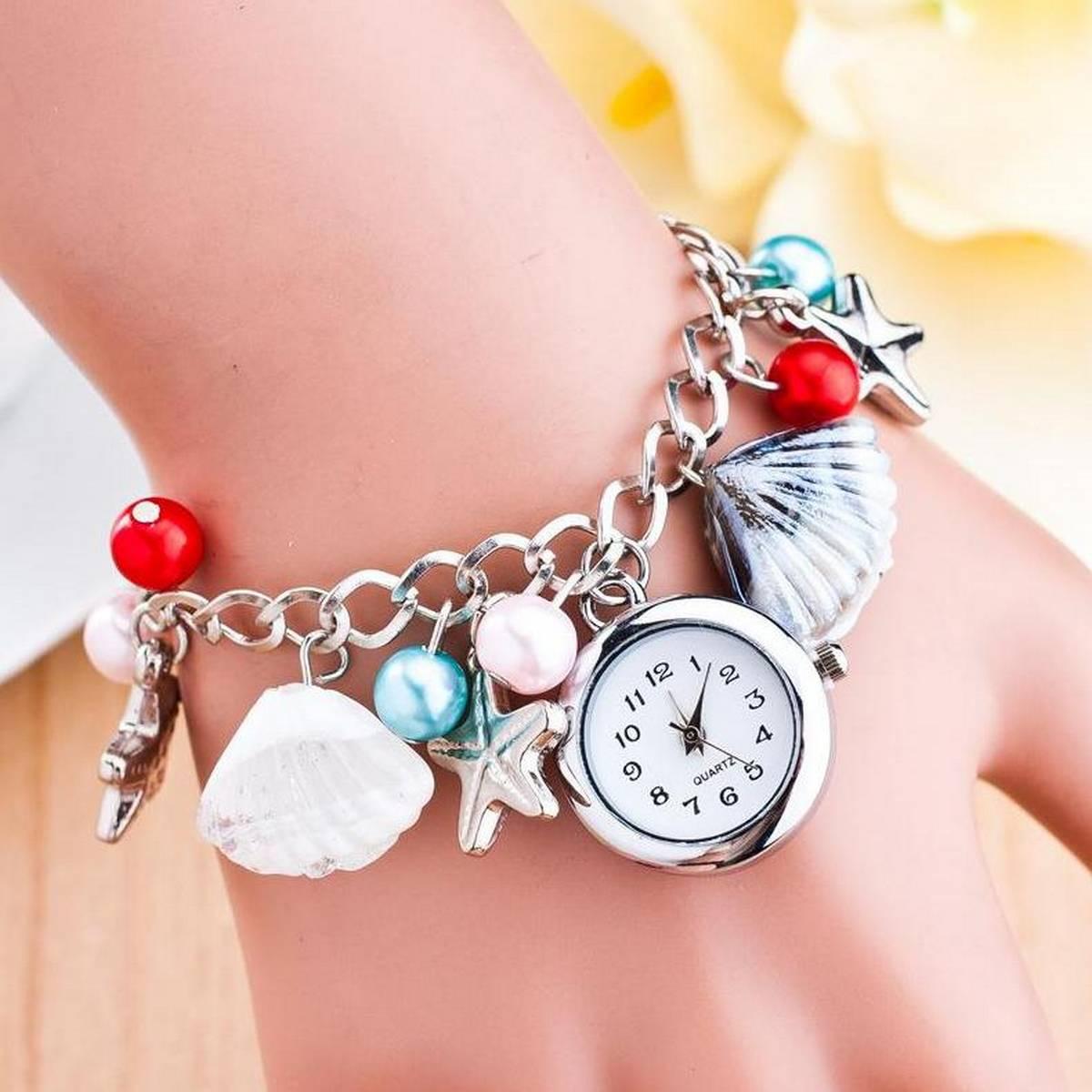 Luxury Silver Multi Chain Bracelet Watch.