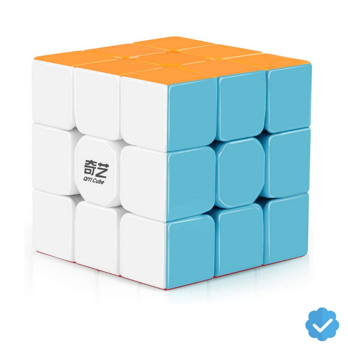 Qiyi Warrior W Rubiks Cube 3x3- Stickerless Magic Speed Cube 3x3x3 Puzzle Toys (56mm), The Most Educational Toy to Effectively Improve Your Child's Concentration, responsiveness and Memory - Rubik's Cube