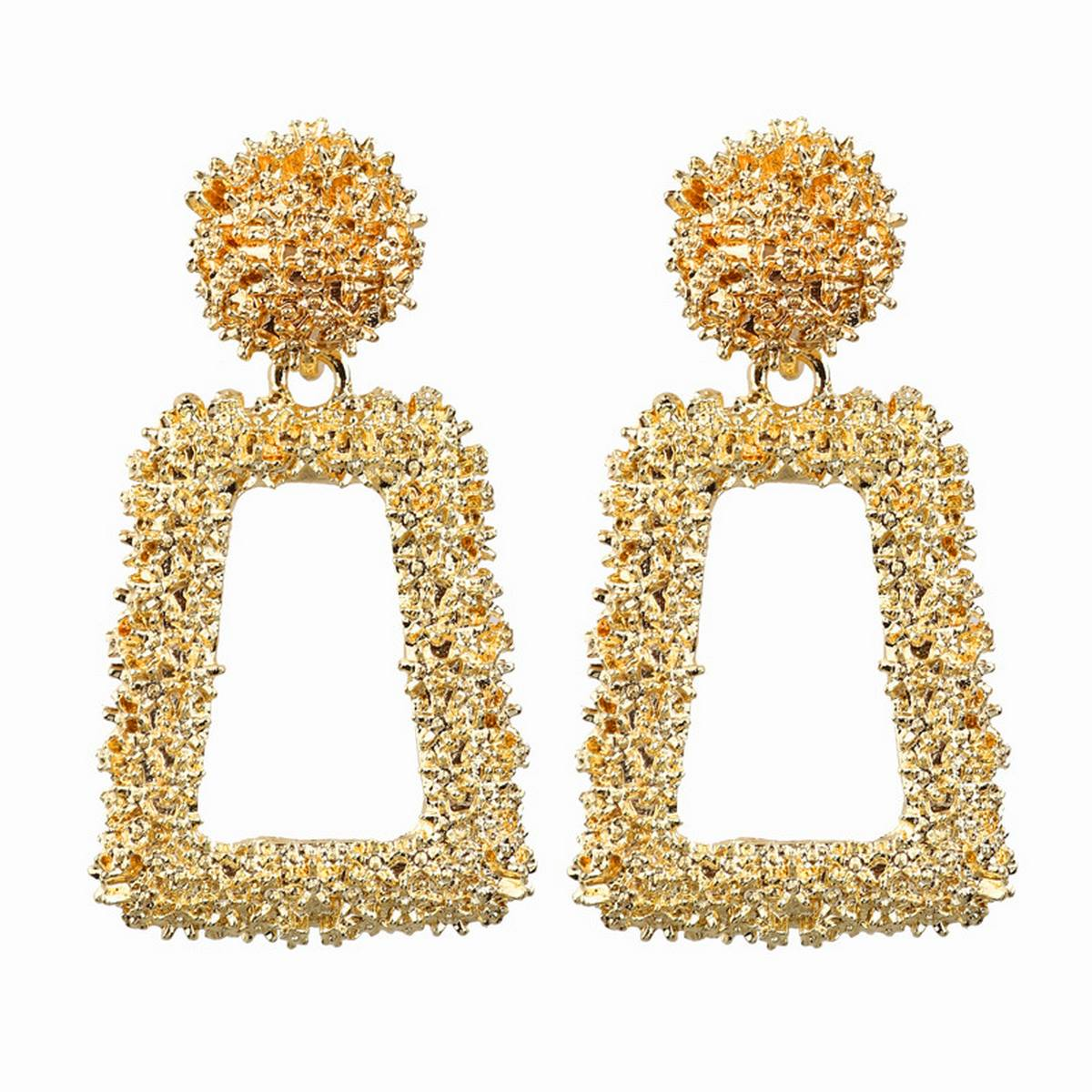 Small Golden Earrings For Women | Hanging Dangle Circle Ear ring for Girls