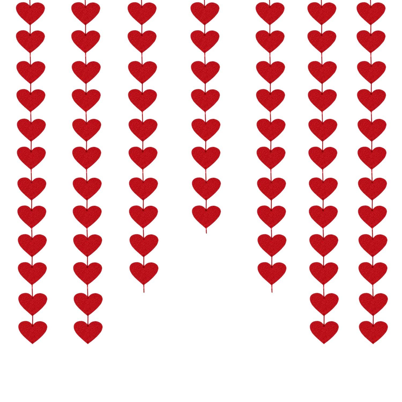Beeris Red Hearts Felt Garland No Diy Valentines Day Red Heart Hanging String Garland Valentine Decorations Valentines Wedding Anniversary Party Supplies Buy Online At Best Prices In Pakistan Daraz Pk