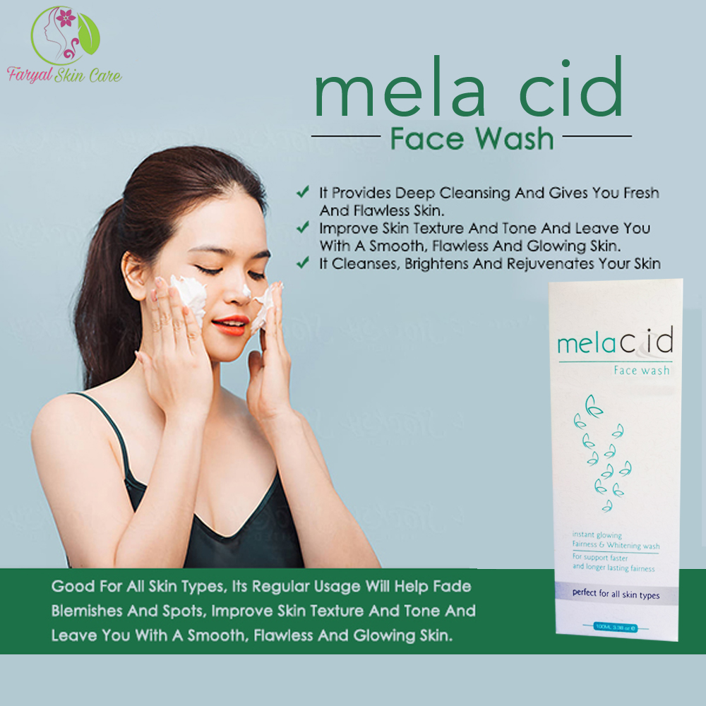 Melacid (Oil Free Whitening Face wash) - Visibly Clear Face Wash, Gel Based