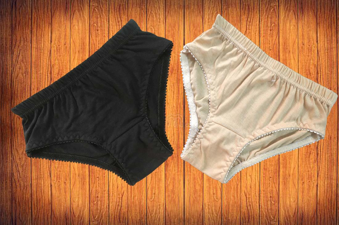Underwear panties for girls and women skin and black color soft cotton comfortable