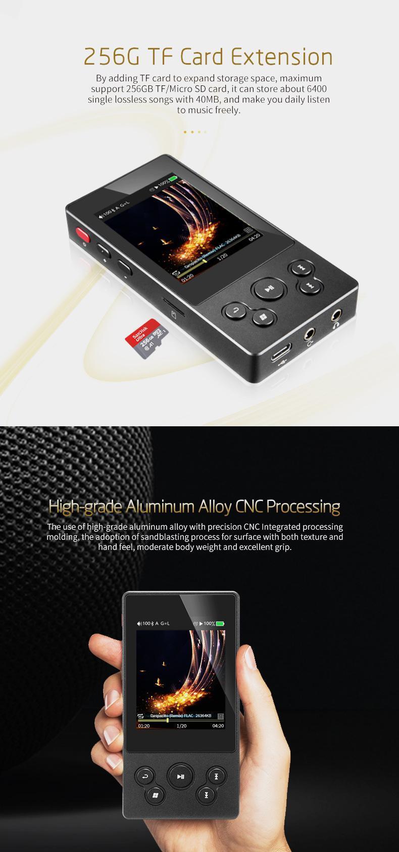 Xduoo X3II 2 4 Inch IPS Screen Bluetooth 4 0 DSD DAC HIFI Lossless Music  MP3 Player Support APT-x