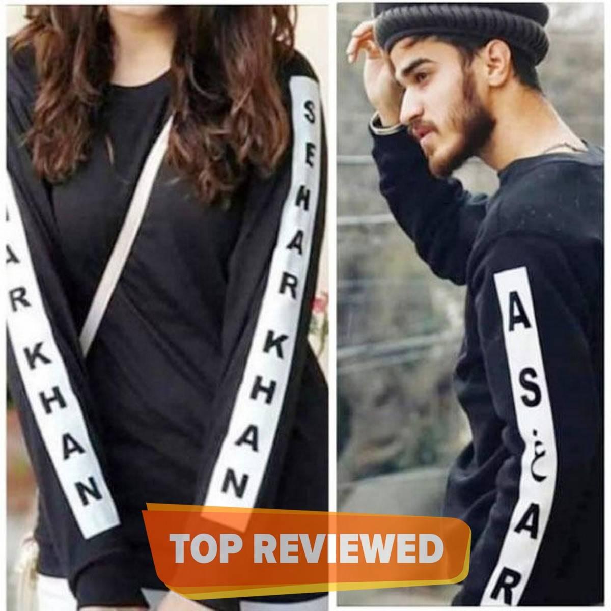 Customized Name Full Sleeves Shirt on Both Sleeves
