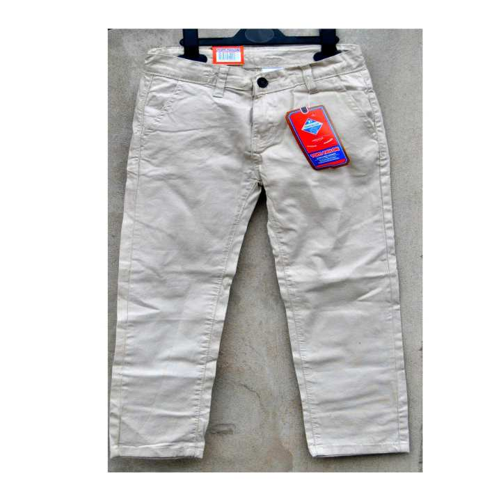 Cotton Chino Off white Pants for Boys
