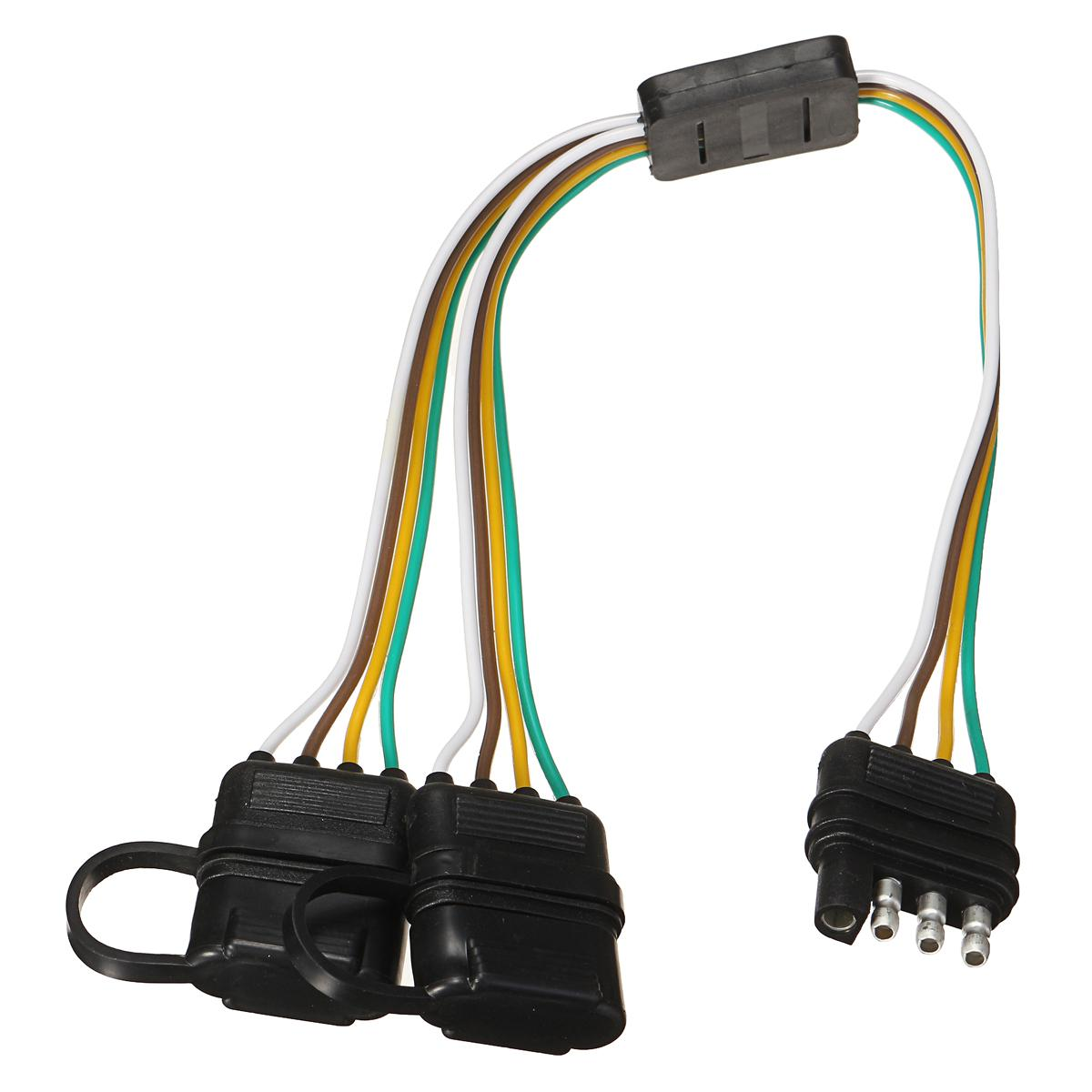 Sding Trailer Splitter 2-Way 4 Pin Y-Split Wiring Harness Adapter for on