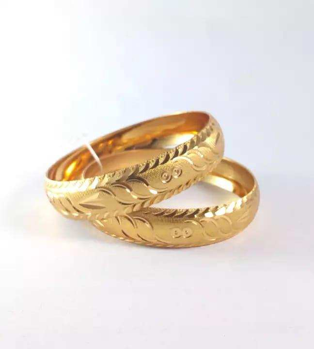 2 Pcs 21k Gold Plated bangles for women