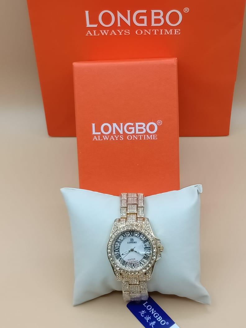 New Diamonds Ladies Fine Quality Braslat Original Longbo With Box And Hand Bags