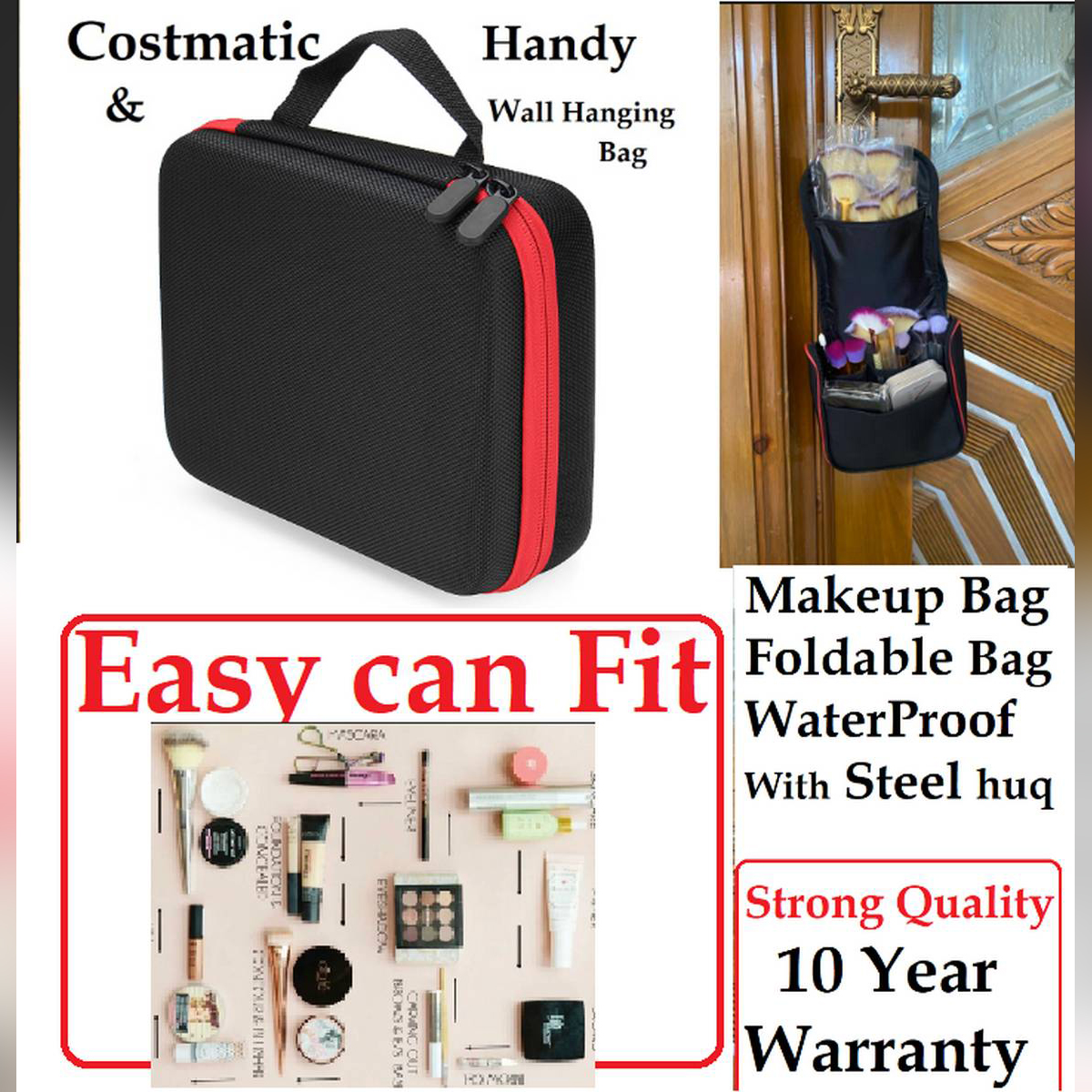 Large Folding Travel Toiletry Hanging Wash Bags Makeup Cosmetic Case Women Make Up Toiletries Organizer Washable Waterproof Storage Bag costmatic Wall hanging with stand